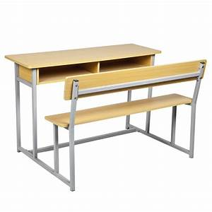 Attached Wood Double Student Desk and Chair (SF-65A 2 ...