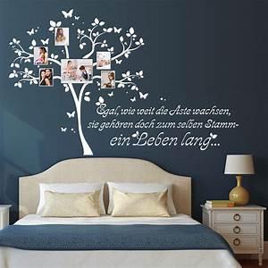 Schriftzüge Für Die Wand : fotobaum mit rahmen und schriftzug wandtattoos ~ Lizthompson.info Haus und Dekorationen