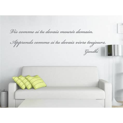 sticker citation chambre sticker citation de gandhi 1 stickers citation texte