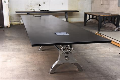 polished stainless steel hure conference table model