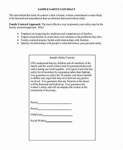 9 safety contract samples templates sample templates With contract for safety template