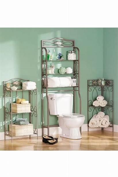 Bathroom Space Saver Shelves Organizer Floor Towels