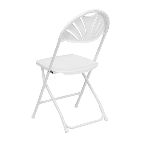 Hercules Plastic Folding Chairs by Hercules Series 800 Lb Capacity White Plastic Fan Back
