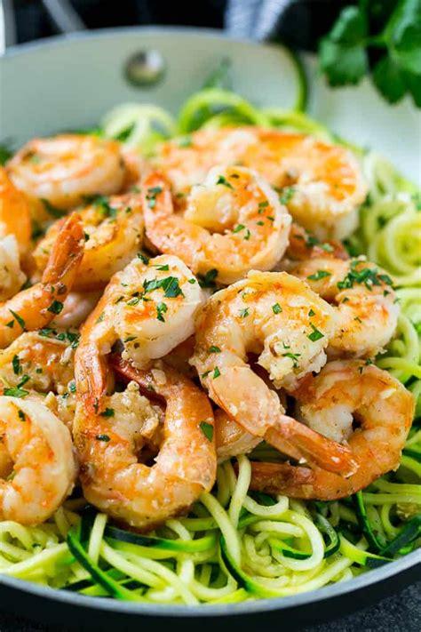 easy  carb shrimp scampi zoodles recipe healthy