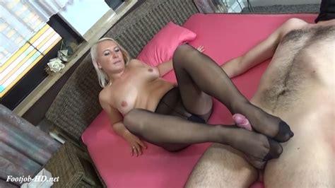Stocking Pantyhose Footjob And Cumshot Gina Blonde