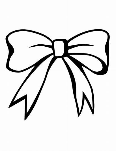 Bow Coloring Pages Bows Drawing Pink Christmas