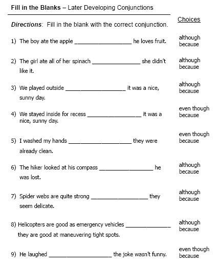 all worksheets 187 conjunctions and connectives worksheets