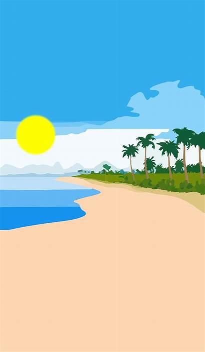 Beach Clipart Clip Portrait Shore Sandy Cliparts