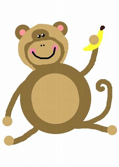 Monkey Clip Clipart Swinging Cartoon Domain Cliparts