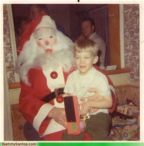 creepy  scary santas   terrify  christmas
