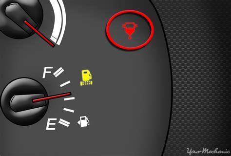 fuel filter warning light