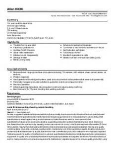 tig welding resume exles 45 welders resume exles in minnesota livecareer