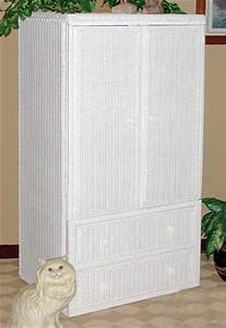 Mystic Color Chart Wicker Armoire Double Door Wardrobe Wicker Wardrobe