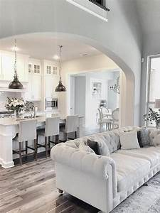 love this fresh clean white kitchen accented with With kitchen colors with white cabinets with art for large living room wall