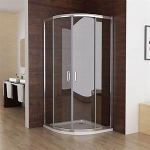 Dusche Ohne Duschtasse : 90x90cm viertelkreis duschkabine runddusche schiebet r duschabtrennung dusche echtglas ohne ~ Indierocktalk.com Haus und Dekorationen