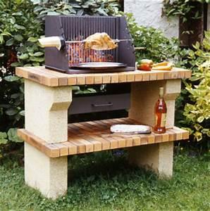 Barbecue En Pierre Mr Bricolage : barbecue en pierre sans cheminee ~ Dallasstarsshop.com Idées de Décoration