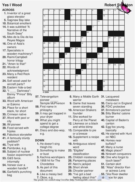 printable large print crossword puzzles printable