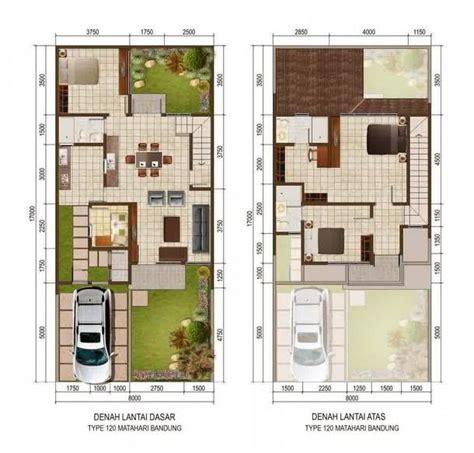 denah rumah type  tingkat rumah minimalis