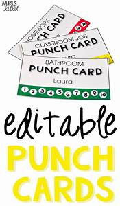 Editable punch pass cards bathroom pass classroom jobs for Bathroom pass punch card