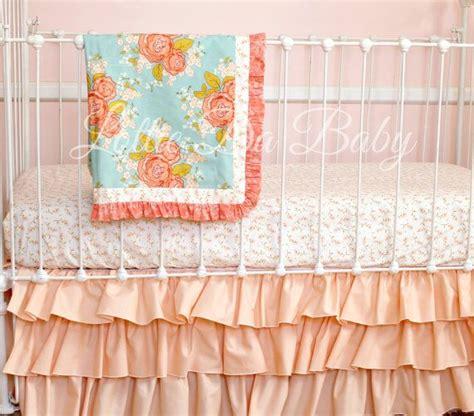 peach baby bedding bumperless roses peach bedding baby