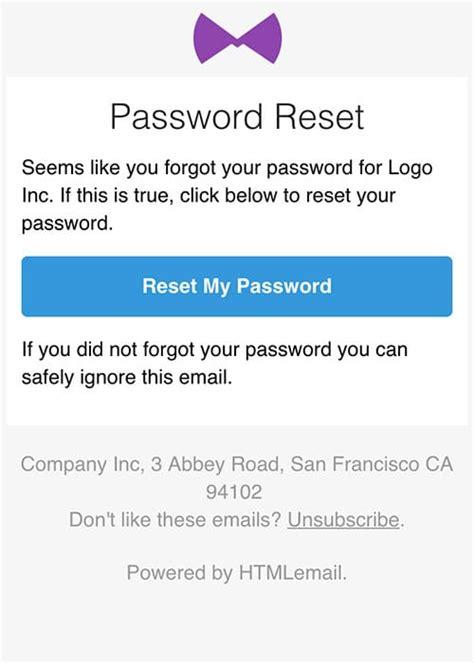 responsive forgot password reset email template