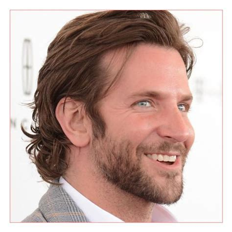 Mens long hairstyles for thick straight hair with Bradley