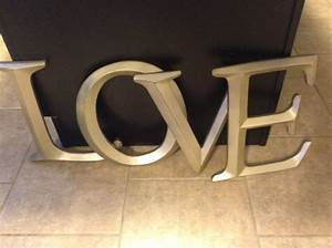 letters large letters wall decor shabby chic wall decor With huge letters for wall