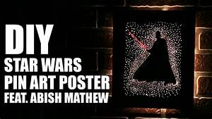 Star Wars Diy : how to make a diy star wars pin art poster feat abish mathew youtube ~ Orissabook.com Haus und Dekorationen