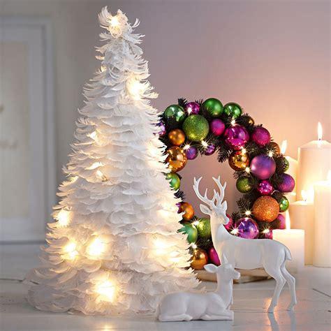 weihnachtsbaum federn weihnachtsbaum aus unz 228 hligen federn mit integrierter lichterkette new feder deko weihnachten