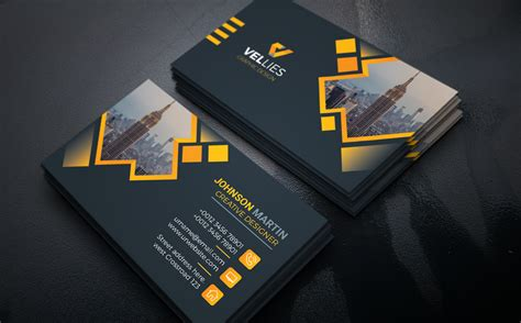 vellies creative design card corporate identity template