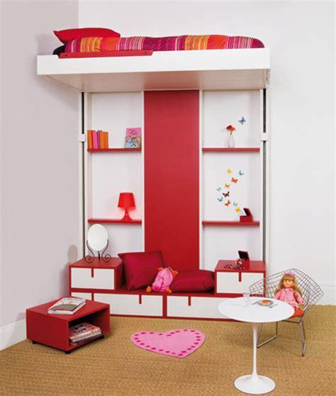 deco chambre espace espace loggia lit escamotable multifonction pour petits