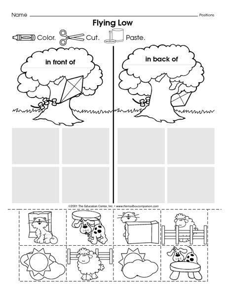 positional words numbers kindergarten