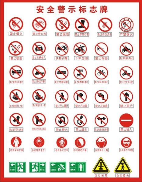 construction safety signs  vector