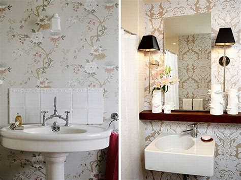 wallpaper in bathroom ideas small bathroom wallpaper ideas dgmagnets com