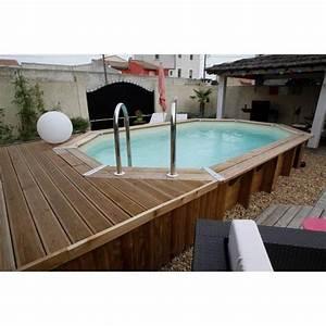 Piscine Bois Ubbink : ubbink piscine ovale en bois maldives 490x300x120cm ~ Mglfilm.com Idées de Décoration