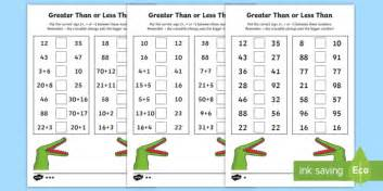 Greater Than And Less Than Worksheet  Activity Sheets  Year 2