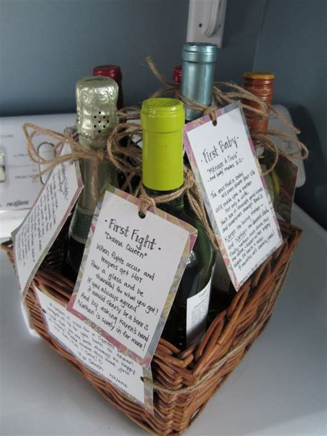 Wine Basket Shower Gift - 5 thoughtful wedding shower gifts that might not be on the