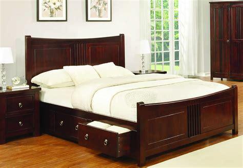 sweet dreams curlew cognac drawer bed frame solid wood