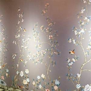 Chinoiserie Wallpaper. Free Hand Painted Chinoiserie ...