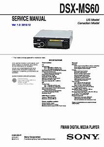 Sony Dsx-ms60 Service Manual
