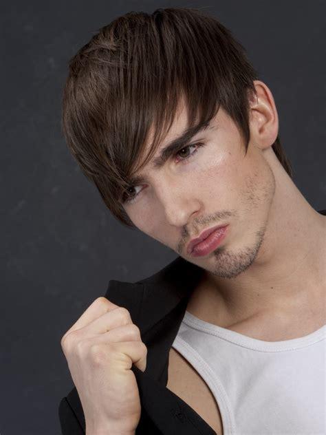 short mens haircut   hair combed   front