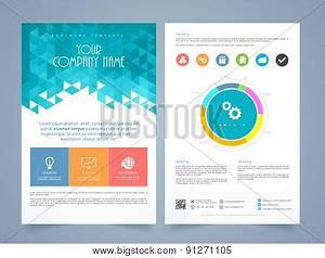 creative two page business flyer template or brochure With 1 2 page flyer template