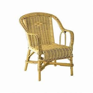 fauteuil enfant en rotin naturel avec accoudoirs With tapis enfant avec canapé en osier