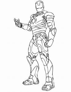 Wonderful Iron Man Coloring Pages For Kids