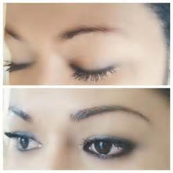 Microblading Permanent Eyebrows Before and After