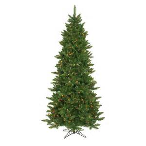 vickerman camdon fir slim pre lit green christmas tree at hayneedle