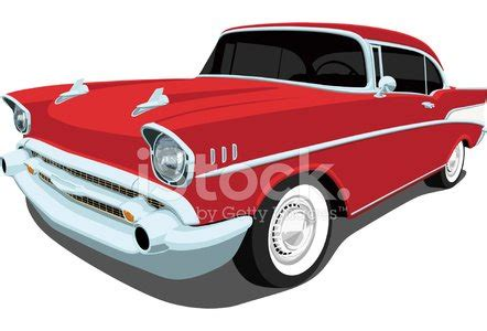 whitewall tire isolated on vector 1957 chevrolet bel air angle view stock vectors