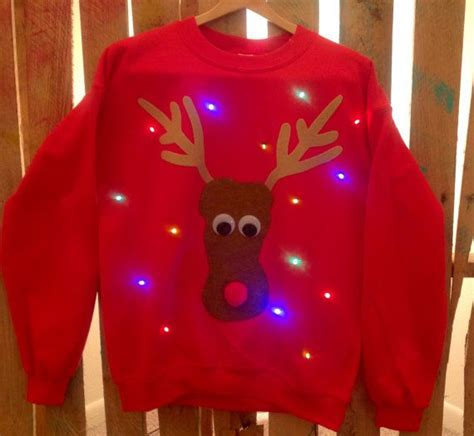 ugly light up christmas sweaters light up ugly christmas sweater rudolph