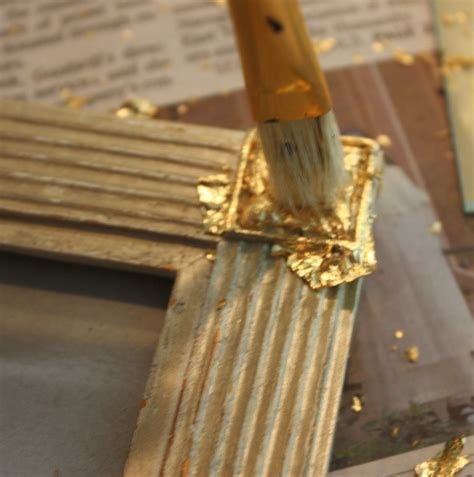 Holz Gold Lackieren by Transform Frames Furniture With Spray Paint And Gold