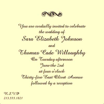 wedding invitation quotes samples  real life